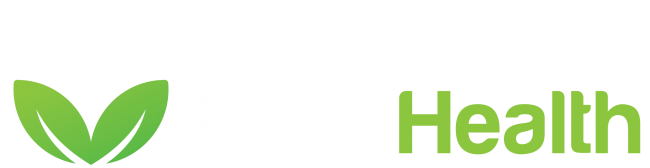 MakeHealth: Logo weiß